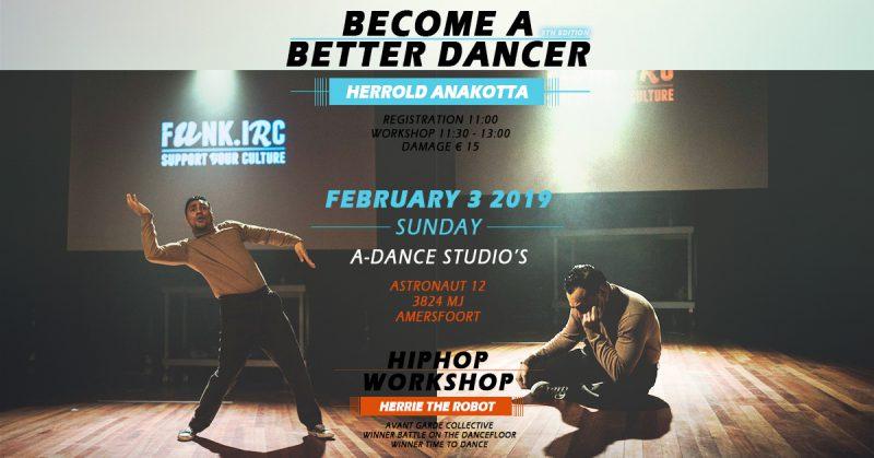Workshop Become A Better Dancer With Herrold Anakotta