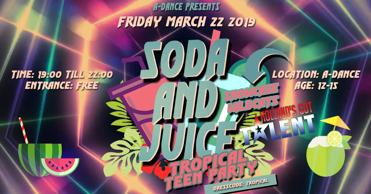 Soda and Juice Tropical Party